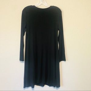 Old Navy Dresses - OLD NAVY | Black Jersey Long Sleeve Swing Dress
